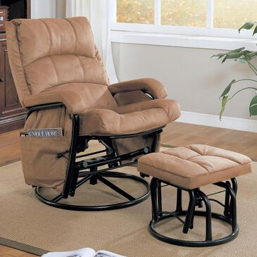 Pacific Landing Glider Recliner with Ottoman, , large