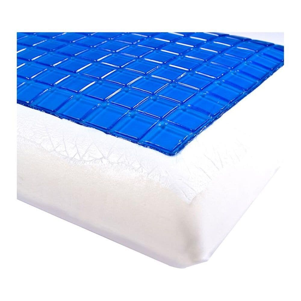 Timberlake Remedy Cooling Gel Memory Foam Pillow with Cover in White, , large