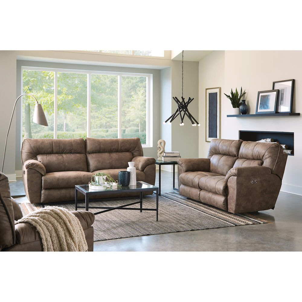 Hartsfield Hollins Power Reclining Sofa in Coffee, , large