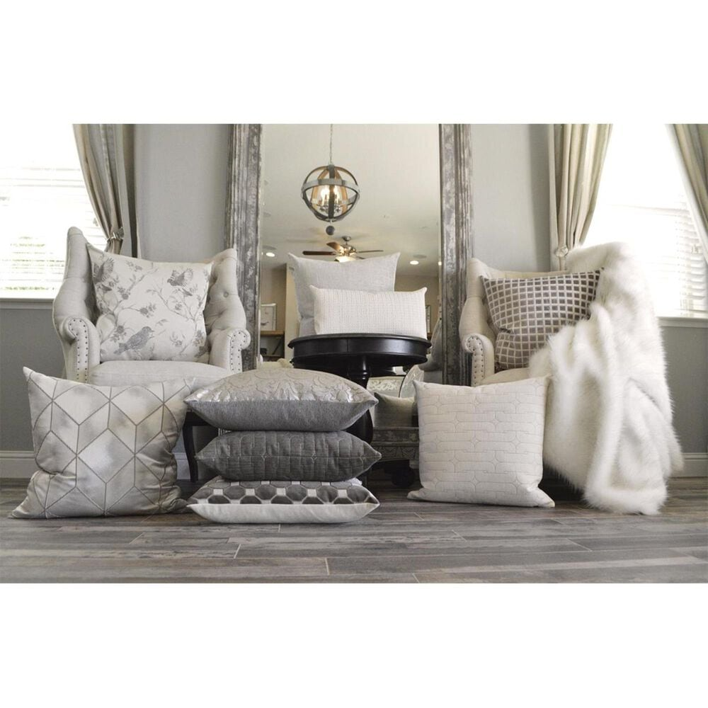 """D.V.Kap Inc 24"""" Feather Down Decorative Throw Pillow in Jocelyn-Pearl, , large"""