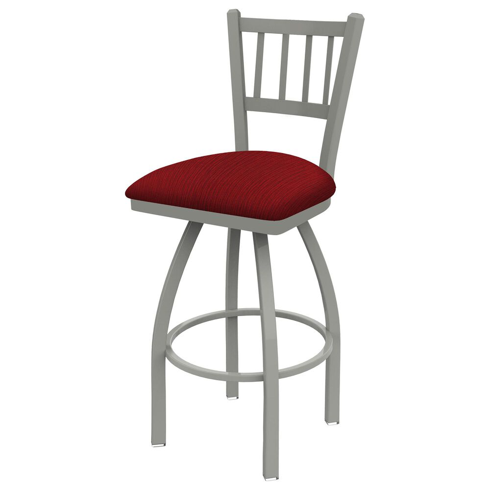 """Holland Bar Stool 810 Contessa 25"""" Swivel Counter Stool with Anodized Nickel and Graph Ruby Seat, , large"""