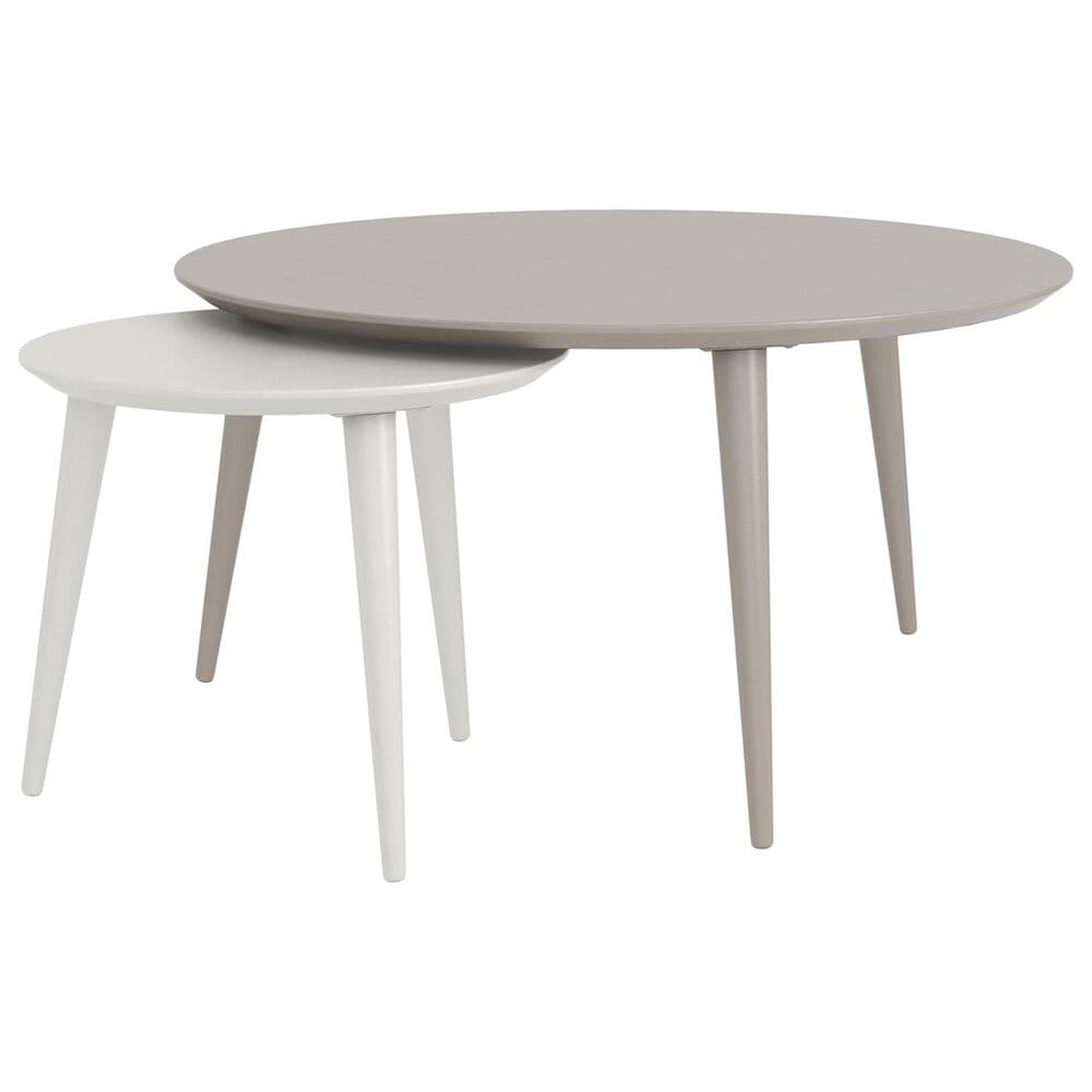 CosmoLiving by Cosmopolitan CosmoLiving Carnegie Nesting Tables in Taupe and White, , large