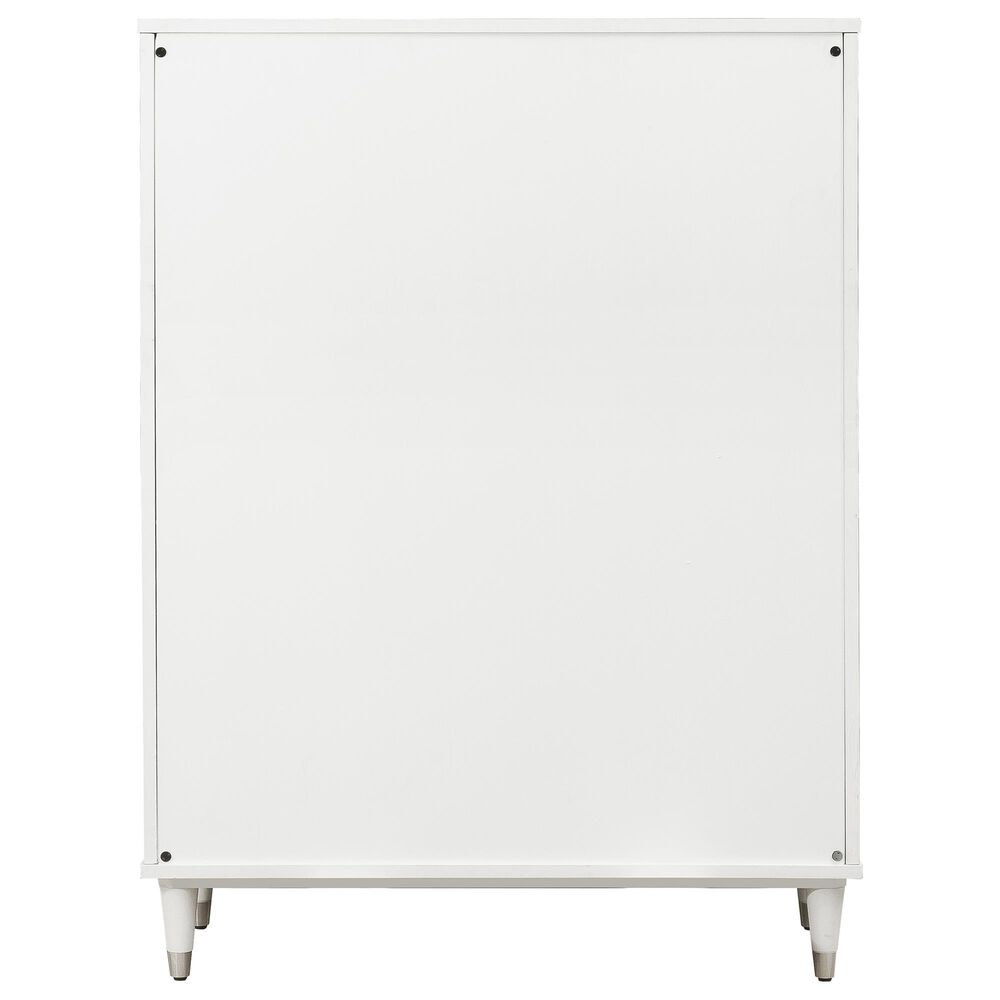 Accentric Approach 5 Drawer Chest in White, , large