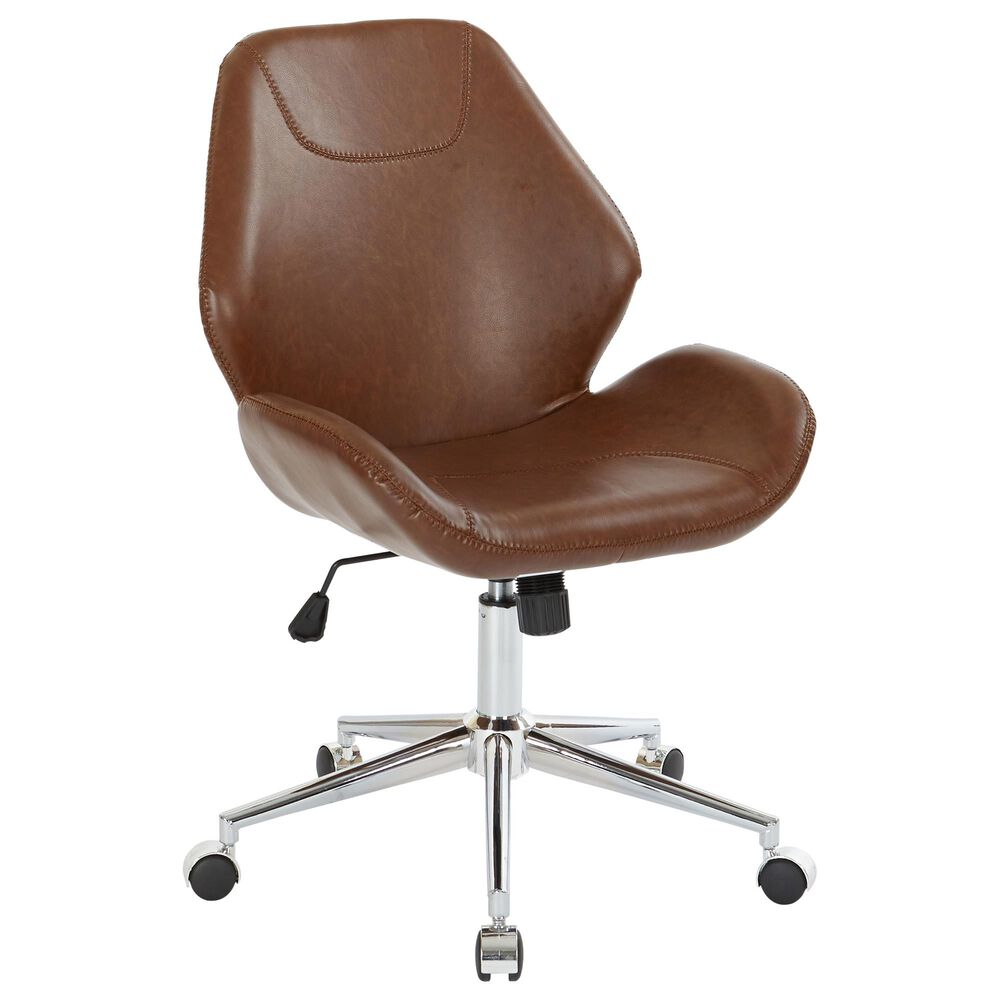 OSP Home Chatsworth Office Chair in Saddle, , large