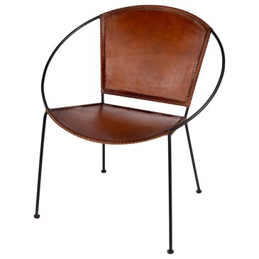 Butler Milo Accent Chair in Brown and Black, , large