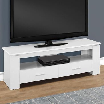 "Monarch Specialties 48"" TV Stand with 2 Storage Drawers in White, , large"
