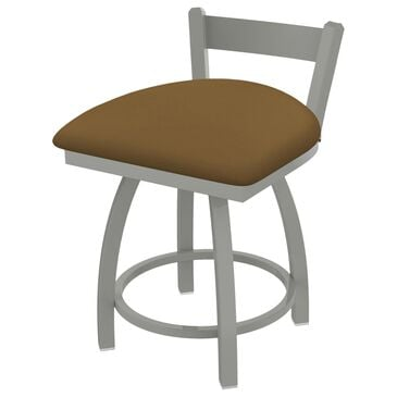 """Holland Bar Stool Catalina 18"""" Low Back Swivel Vanity Stool with Anodized Nickel and Canter Saddle Seat, , large"""