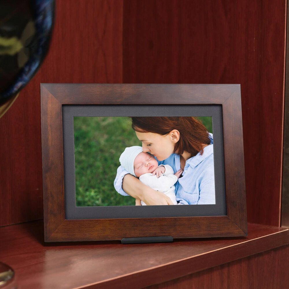 """Brookstone PhotoShare Friends and Family 8"""" Smart Digital Photo Frame in Espresso, , large"""