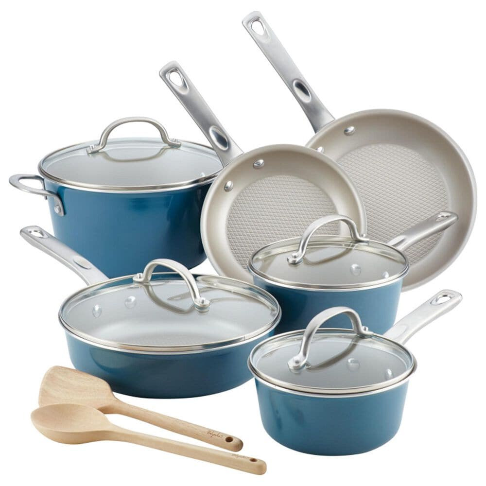 Ayesha Curry 12-Piece Cookware Set in Twilight Teal, , large