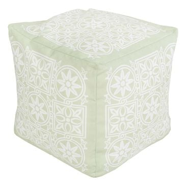 Surya Inc Surya Poufs Cube Pouf in Mint and Ivory, , large
