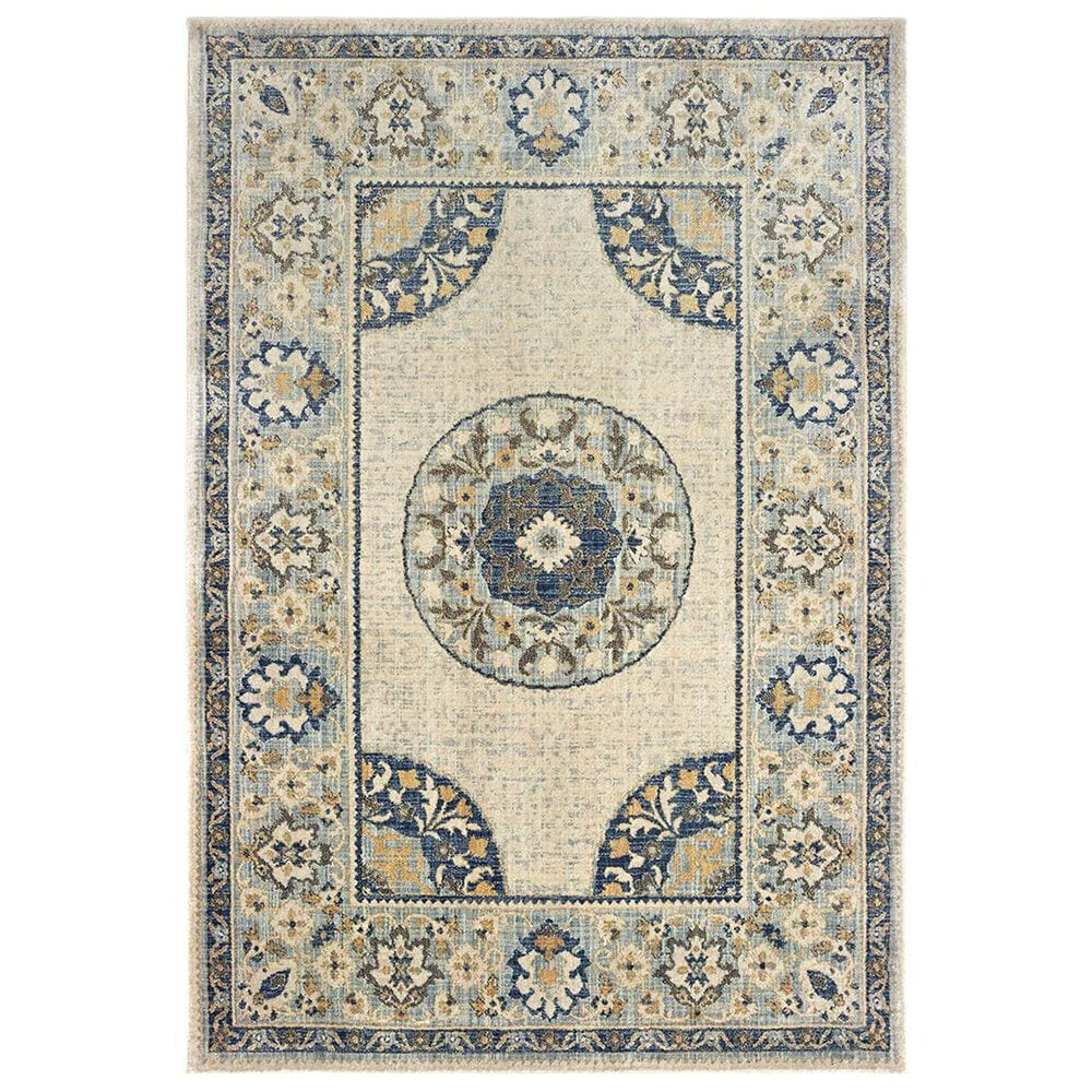 "Oriental Weavers Pandora 8027W 2'3"" x 7'6"" Ivory and Blue Runner, , large"