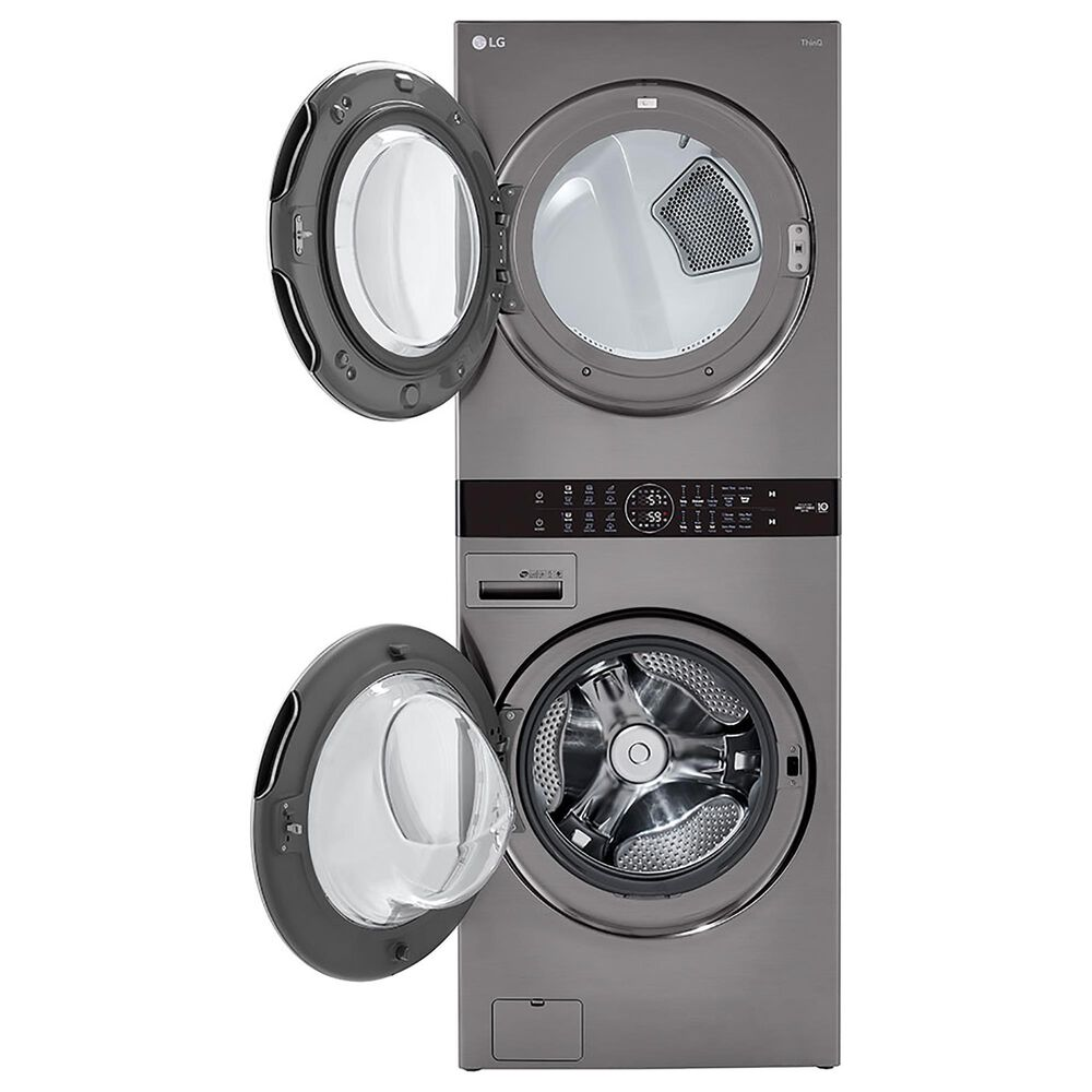 LG WashTower 4.5 Cu. Ft. Washer and 7.4 Cu. Ft. Gas Dryer in Graphite Steel, , large