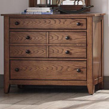 Belle Furnishings Grandpas Cabin Youth 3 Drawer Dresser in Aged Oak, , large