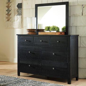 Signature Design by Ashley Noorbrook 7-Drawer Dresser and Mirror in Black, , large
