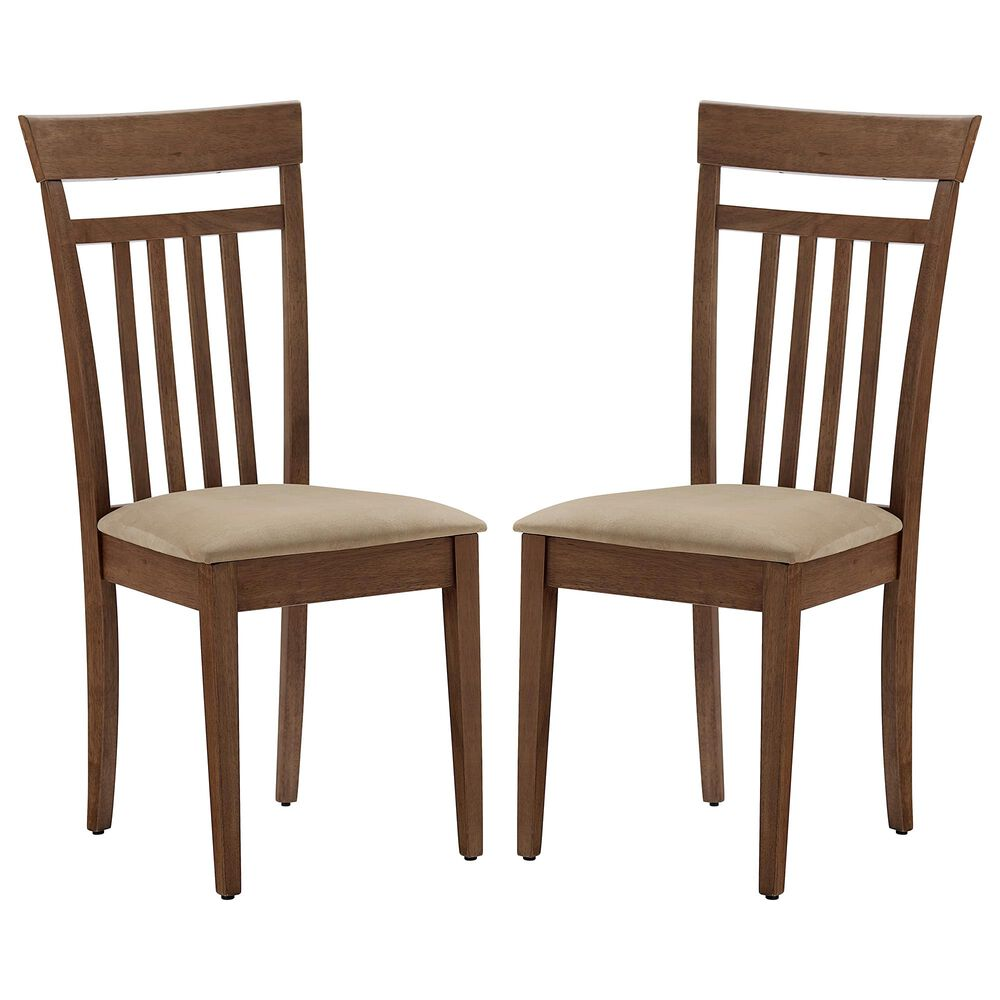 Tiddal Home Palmer Dining Chair in Coffee Brown (Set of 2), , large