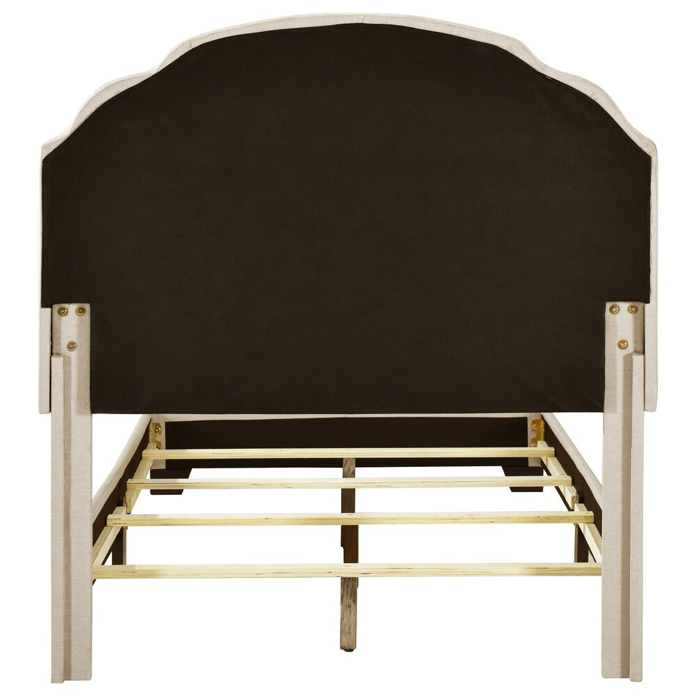 Accentric Approach Twin Upholstered Panel Bed in Cream, , large