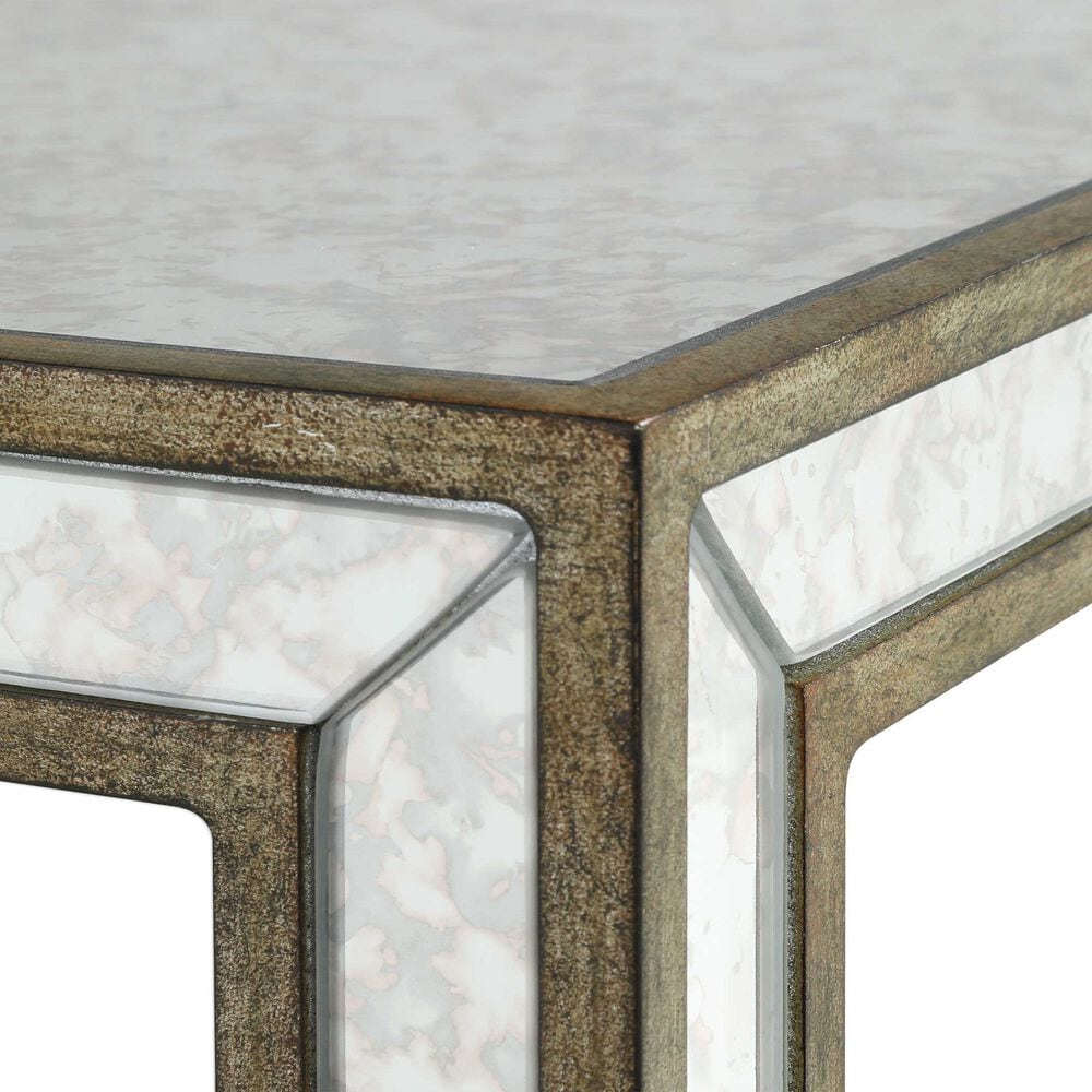 Uttermost Julie Accent Table in Burnished Antiqued Gold and Mirror, , large