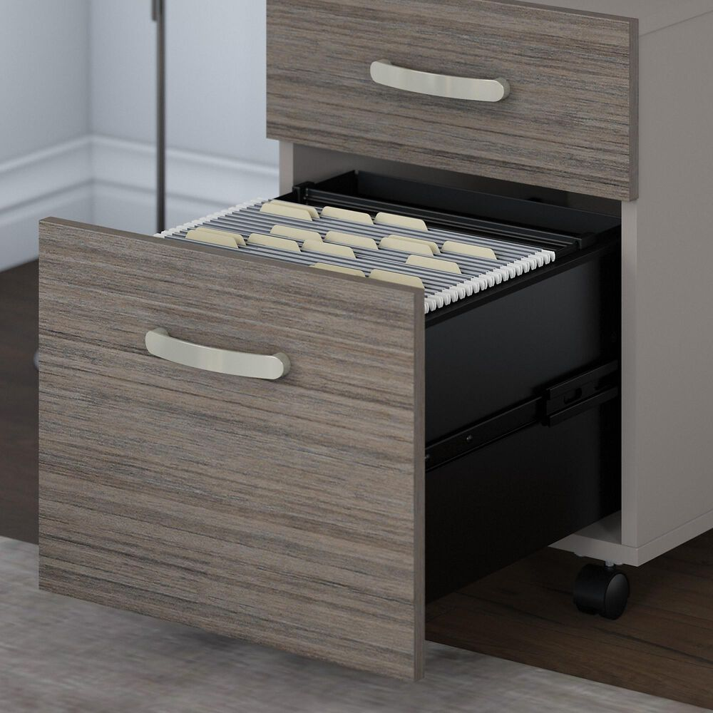 Bush Contemporary 2-Drawer Mobile File in Cocoa and Pewter, , large