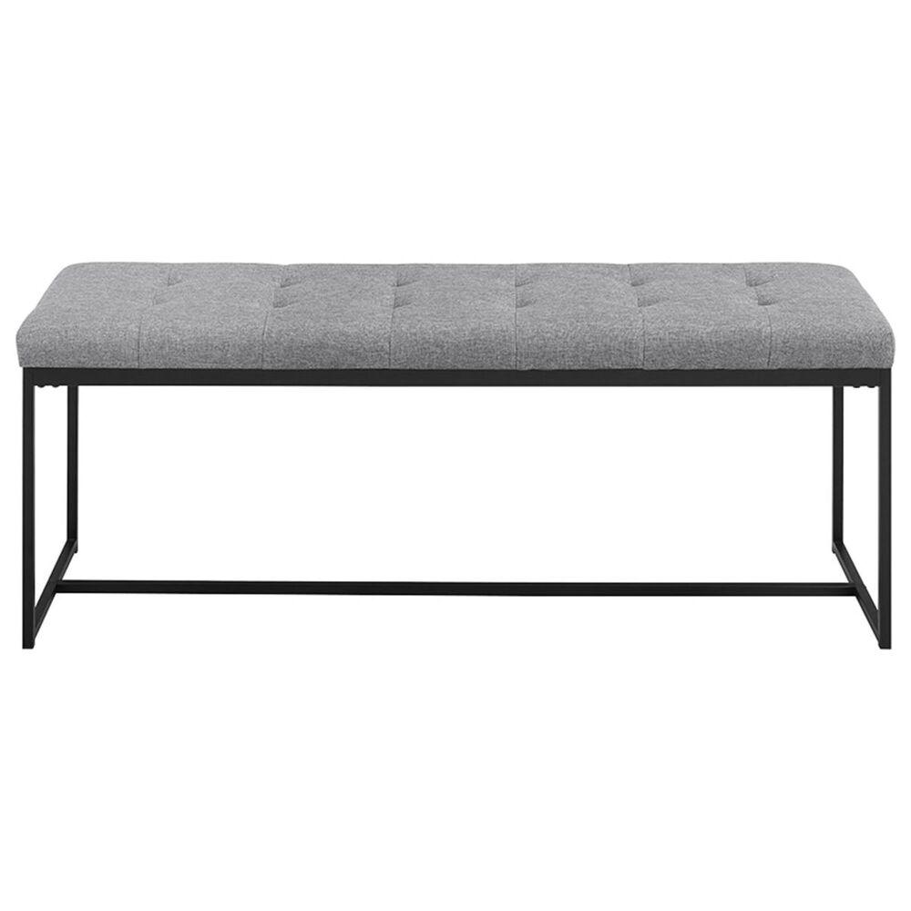 "Walker Edison 48"" Upholstered Bench in Grey, , large"