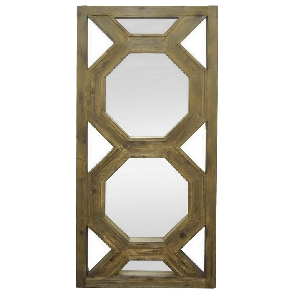 Three Hands Wall Decoration Mirror in Brown, , large