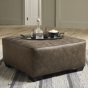 Signature Design by Ashley Abalone Oversized Accent Ottoman in Chocolate, , large