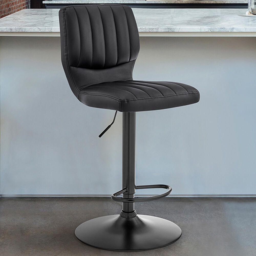 Blue River Bardot Adjustable Swivel Barstool in Black, , large