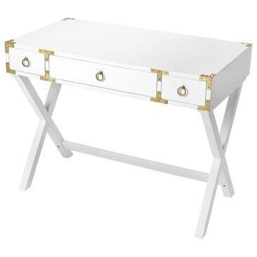 Butler Forster Writing Desk in Glossy White, , large