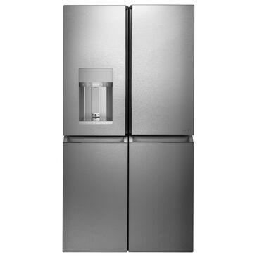 GE Appliances 27.4 Cu. Ft. 4-Door French Door Refrigerator in Platinum Glass, , large