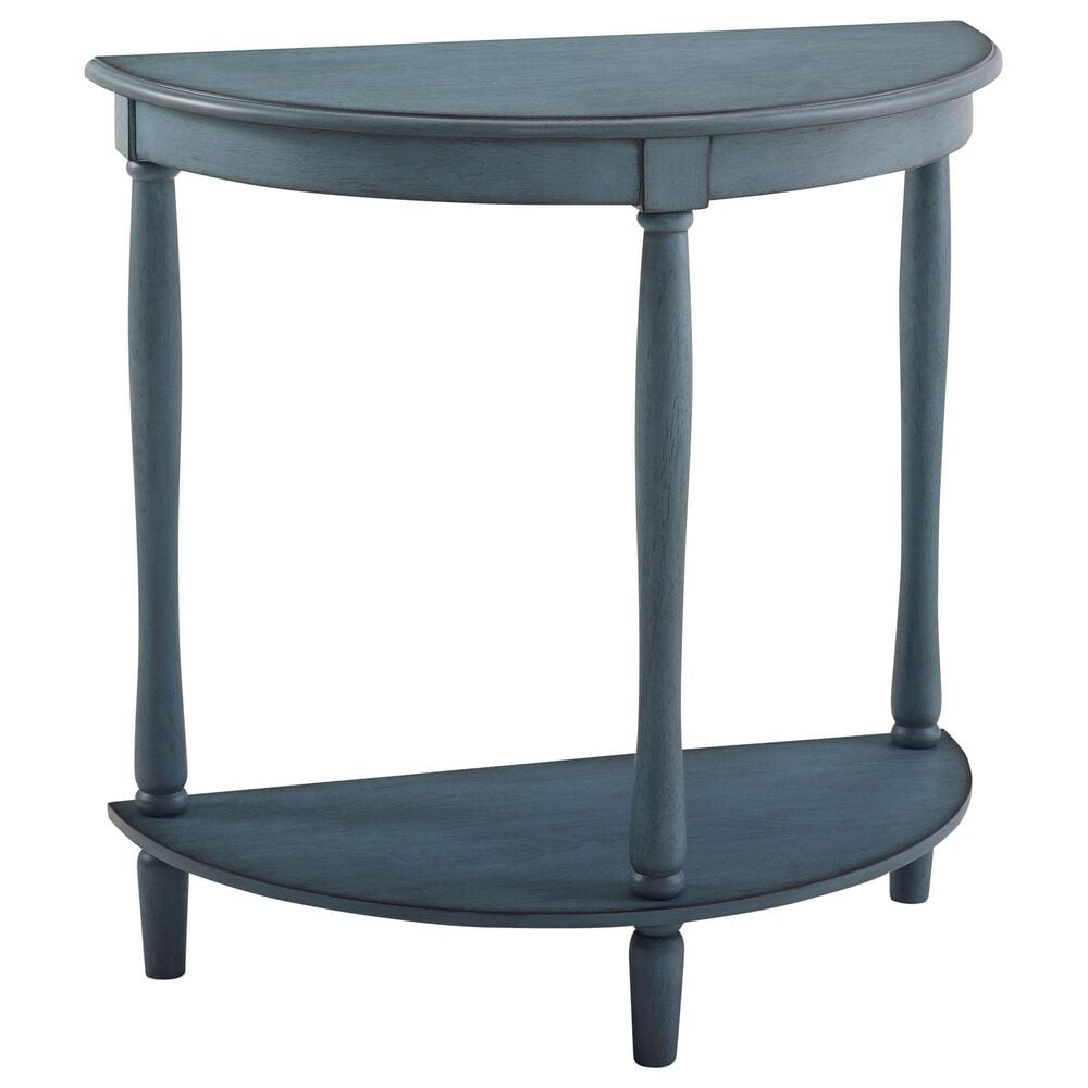 Furniture of America Weeks Console Table in Antique Blue, , large