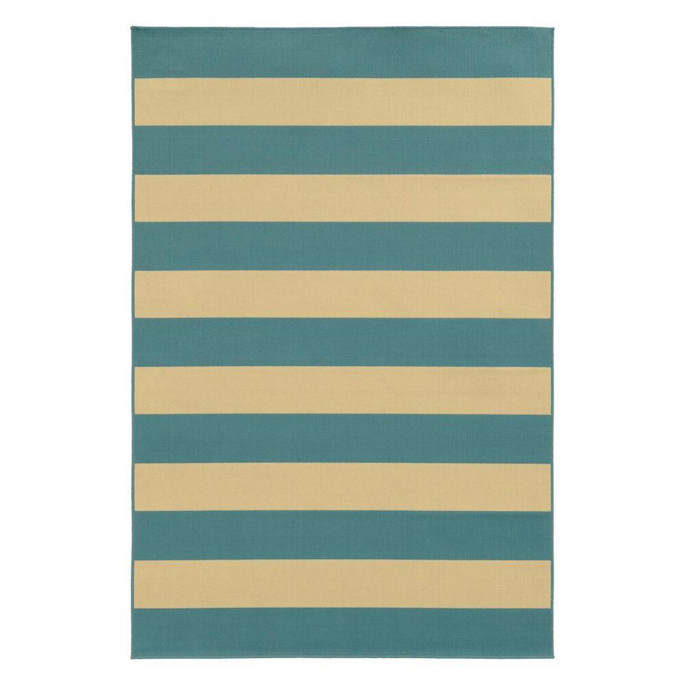 "Oriental Weavers Riviera 4768G 8""6"" x 13"" Blue Area Rug, , large"