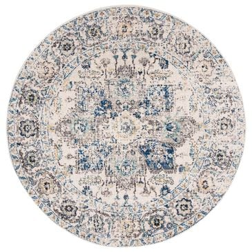 Safavieh Madison MAD603F 5' Round Grey and Ivory Area Rug, , large