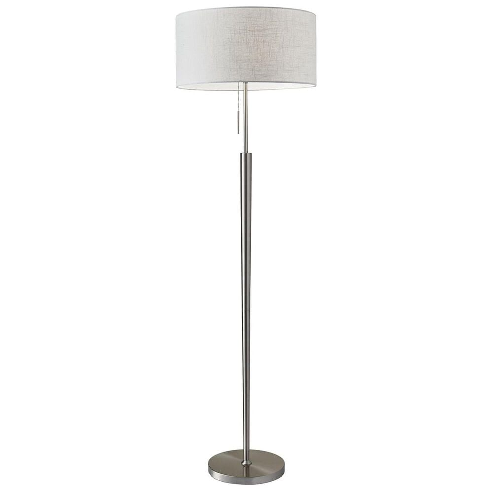Adesso Hayworth Floor Lamp in Brushed Steel, , large