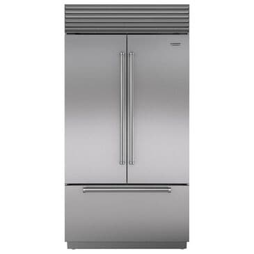 "Roth Distributing Sub-Zero 42"" Built-In Counter Depth French Door Refrigerator with Pro Handle in Stainless Steel, , large"