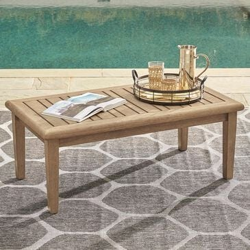 Signature Design by Ashley Gerianne Rectangular Cocktail Table in Grayish Brown, , large