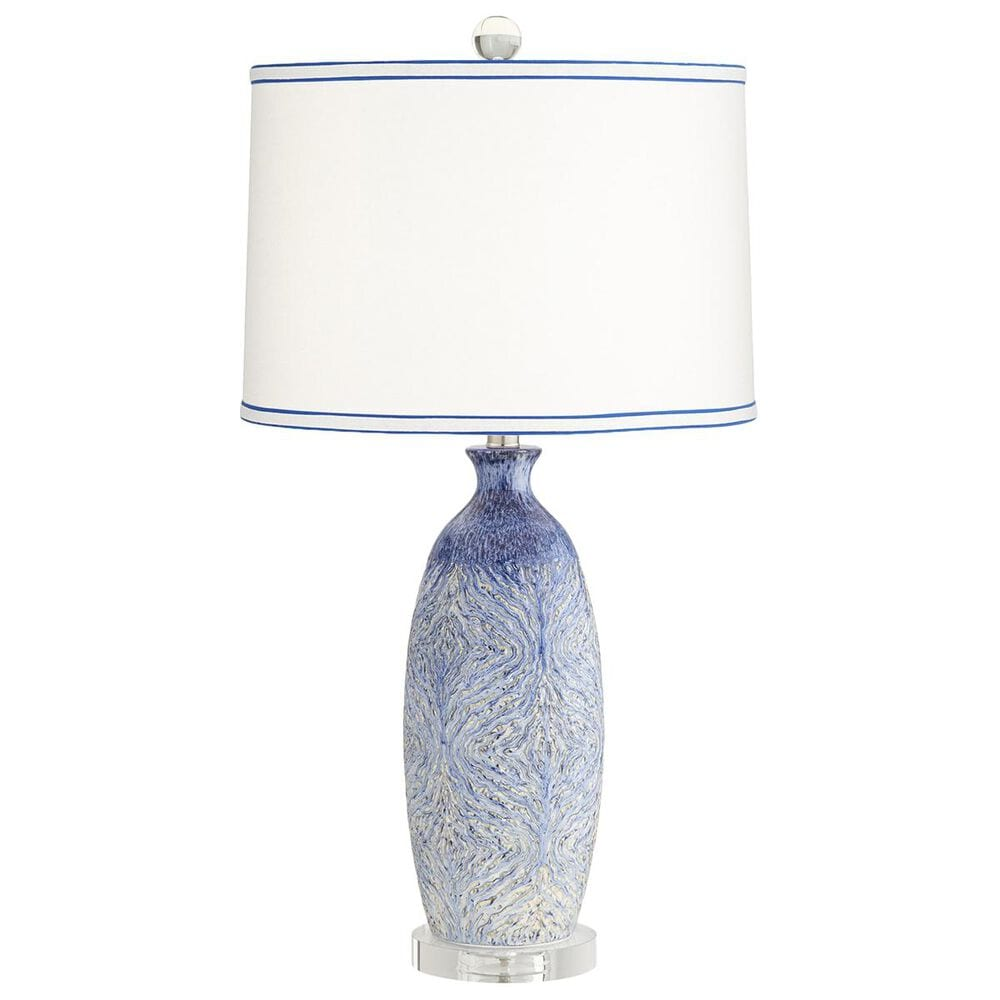 Pacific Coast Lighting Halsted Table Lamp in Blue-Decorated, , large
