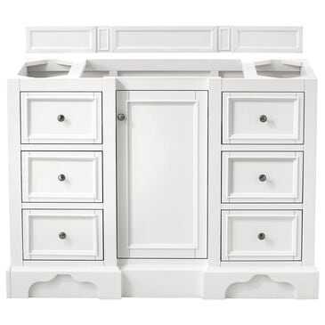 "James Martin De Soto 48"" Single Bathroom Vanity Cabinet in Bright White, , large"