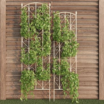 Timberlake Pure Garden Climbing Plant Panel in Antique White (Set of 2), , large