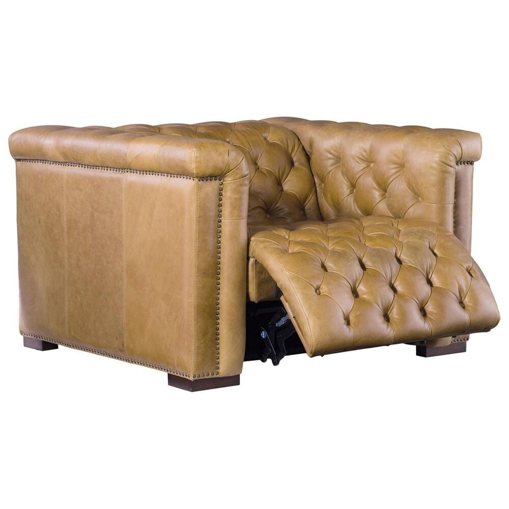 Hooker Furniture Savion Grandier Leather Power Reclining Chair in Light Brown, , large