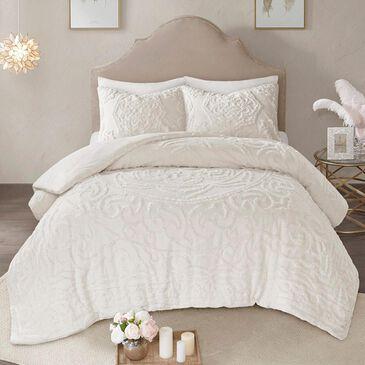 Hampton Park Laetitia 3-Piece Queen Comforter Set in Ivory, , large