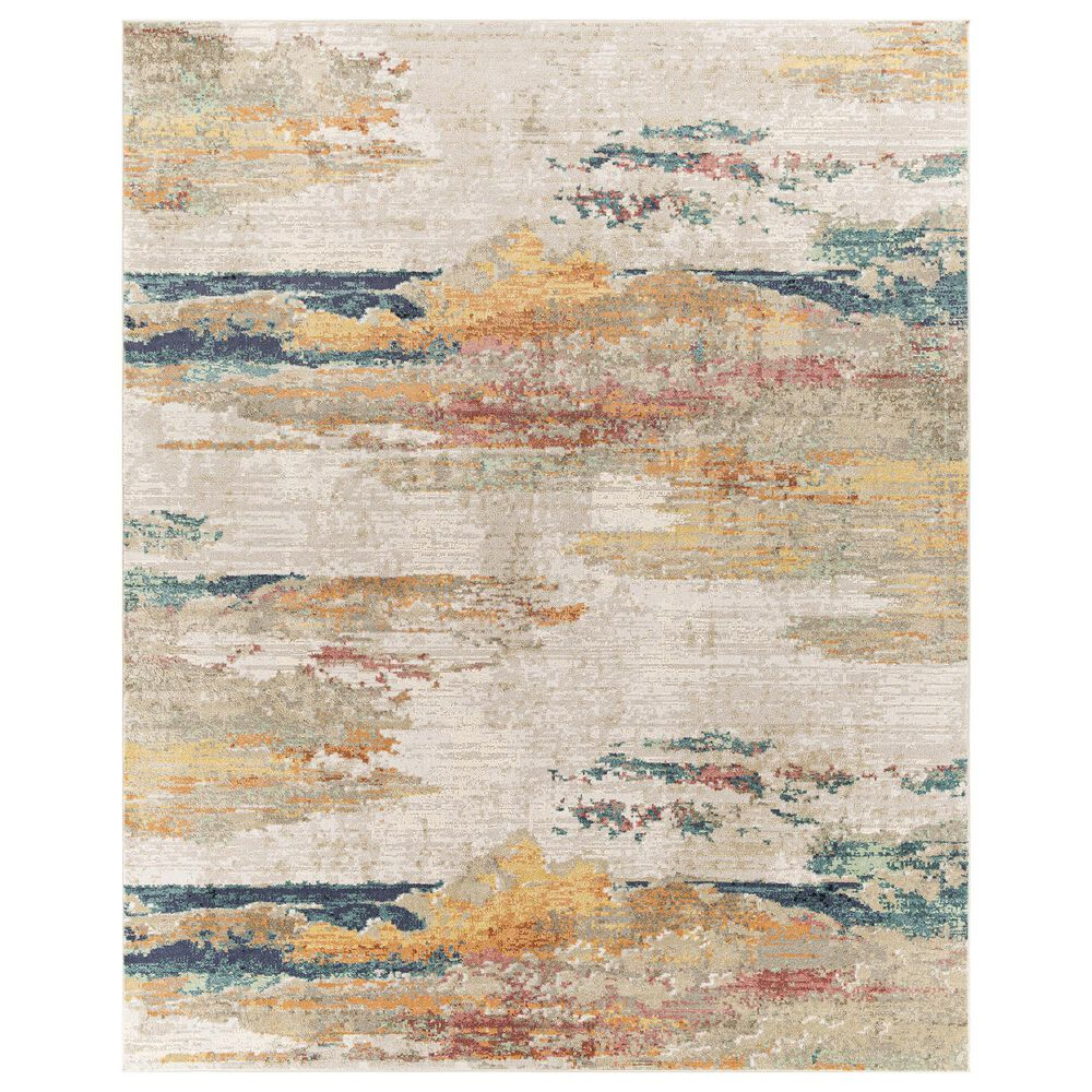 "Surya Carpet, Inc. Illusions 7""10"" x 10"" Cream, Gray, Sage, Orange and Peach Area Rug, , large"
