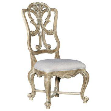 Hooker Furniture Castella Wood Back Side Chair in Antique Slate, , large