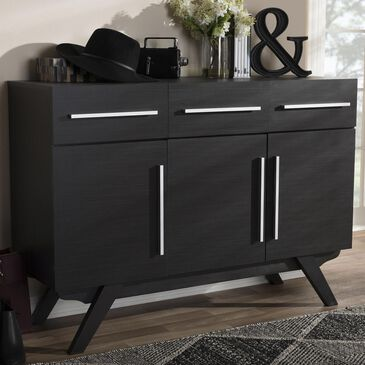 Baxton Studio Ashfield 3-Drawer Sideboard in Dark Espresso Brown, , large