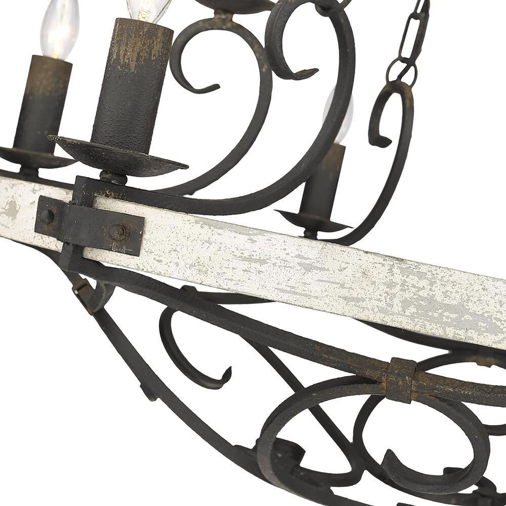 Golden Lighting Madera 9-Light Chandelier in Antique Black Iron, , large