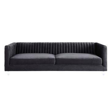 Tov Furniture Aviator Velvet Sofa in Grey , , large