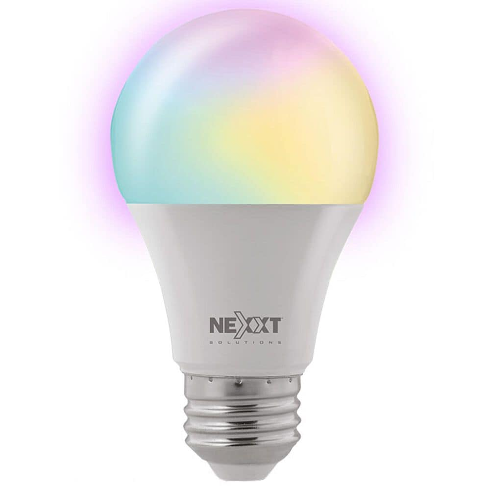 Nexxt A19 RGB Wifi Bulb in White, , large