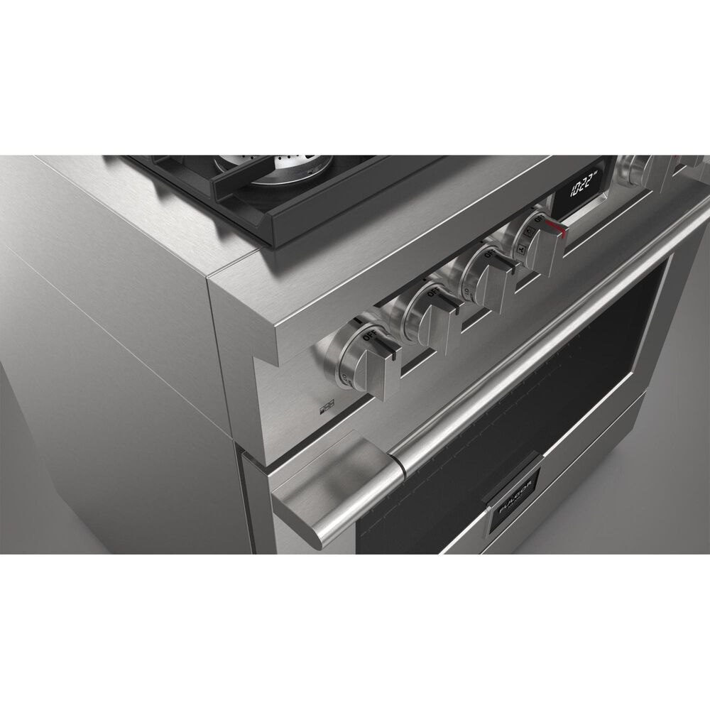 Milano s 5.7 Cu. Ft. Dual Fuel Accento Pro Range in Stainless Steel, , large