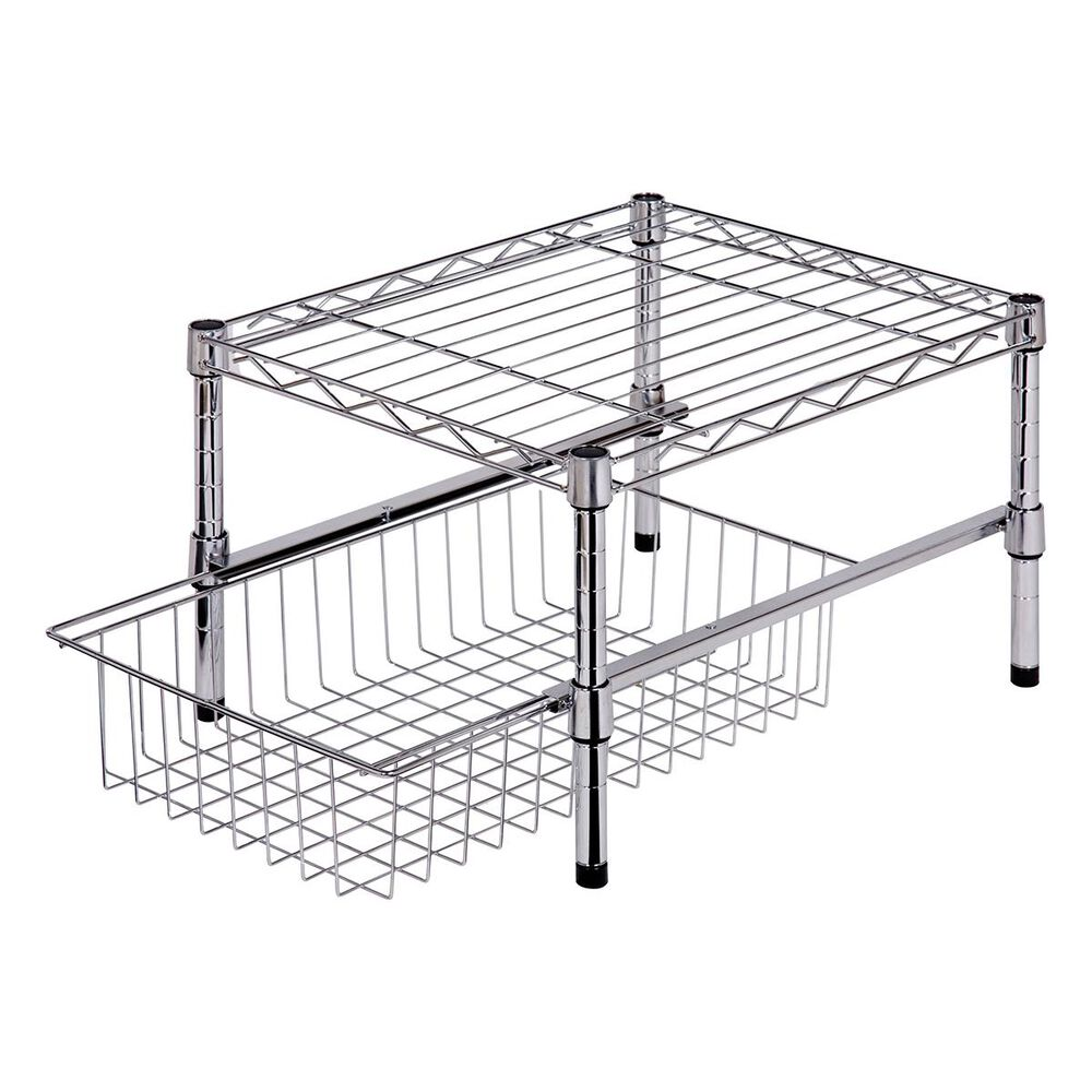 Honey Can Do Under Cabinet Organizer in Chrome, , large