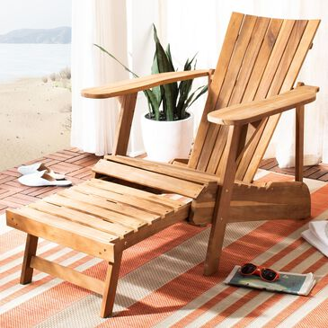 Safavieh Merlin Adirondack Chair with Footrest in Natural, , large