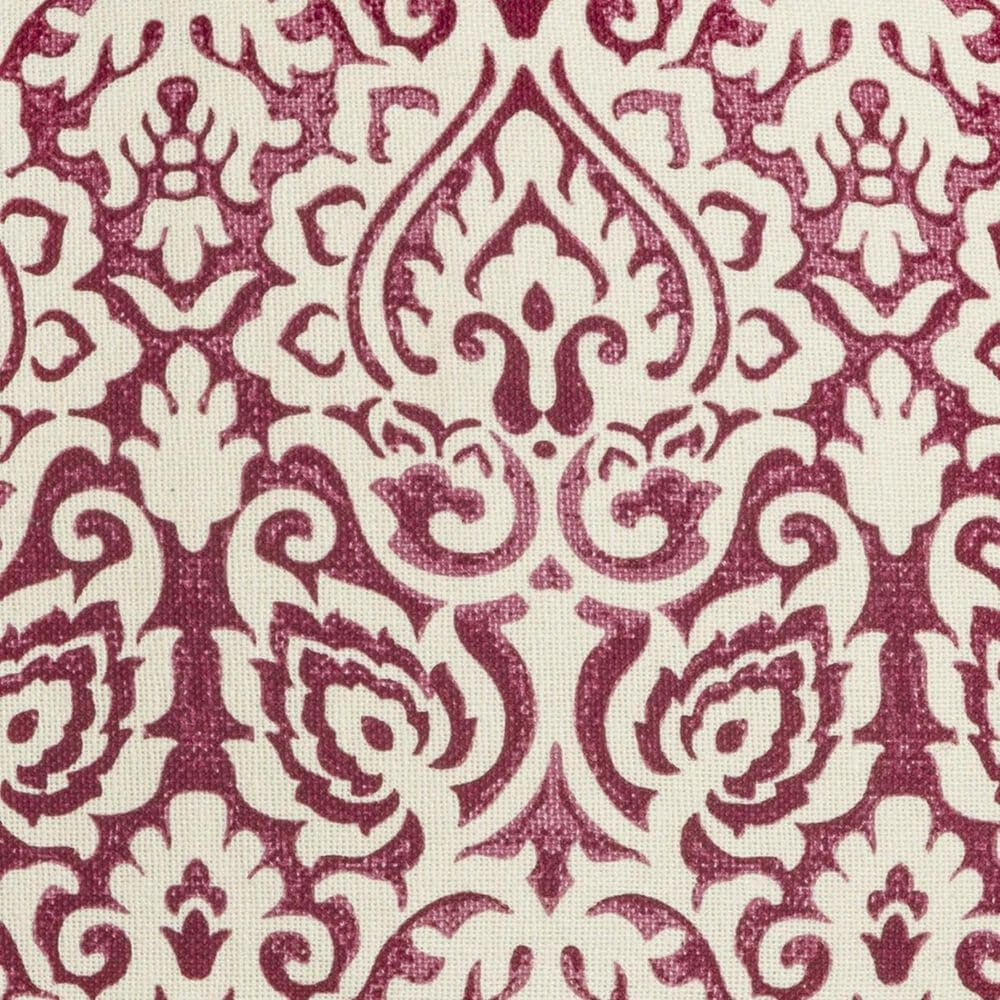 """Rizzy Home 22"""" x 22"""" Damask Pillow Cover in Dark Pink and White, , large"""