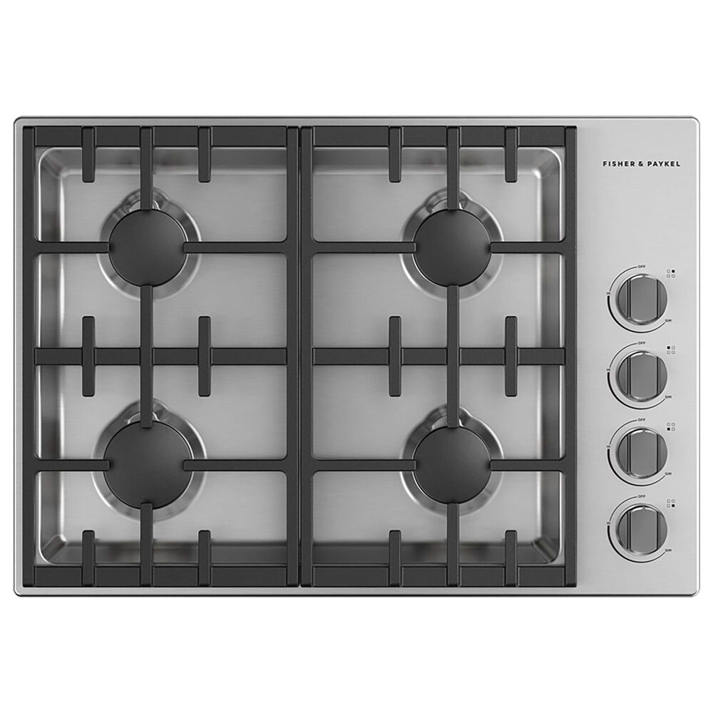 """Fisher and Paykel 30"""" Series 7 Professional Natural Gas Cooktop in Stainless Steel, , large"""